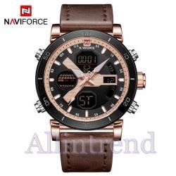 นาฬิกา Naviforce รุ่น NF9132M สีทองชมพู สายสีน้ำตาล ของแท้ รับประกันศูนย์ 1 ปี ส่งพร้อมกล่อง และใบรับประกันศูนย์ ราคาถูกที่สุด