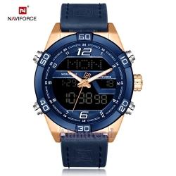 นาฬิกา Naviforce รุ่น NF9128M สีทองชมพู/น้ำเงิน สายสีน้ำเงินของแท้ รับประกันศูนย์ 1 ปี ส่งพร้อมกล่อง และใบรับประกันศูนย์ ราคาถูกที่สุด