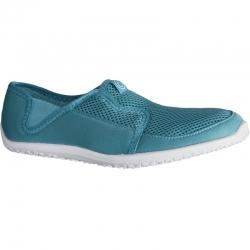 รองเท้าลุยน้ำ รองเท้าดำน้ำ สีเทาอมฟ้า พื้นสีขาว