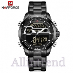 นาฬิกา Naviforce รุ่น NF9133M สีขาว สายสีดำ ของแท้ รับประกันศูนย์ 1 ปี ส่งพร้อมกล่อง และใบรับประกันศูนย์ ราคาถูกที่สุด