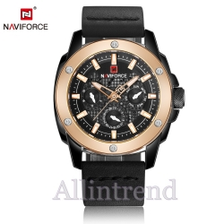 นาฬิกา Naviforce รุ่น NF9116M สีทองชมพู/ดำ ของแท้ รับประกันศูนย์ 1 ปี ส่งพร้อมกล่อง และใบรับประกันศูนย์ ราคาถูกที่สุด