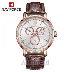 นาฬิกา Naviforce รุ่น NF3002M สีทองชมพู/น้ำตาล ของแท้ รับประกันศูนย์ 1 ปี ส่งพร้อมกล่อง และใบรับประกันศูนย์ ราคาถูกที่สุด
