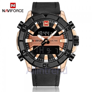 นาฬิกา Naviforce รุ่น NF9114M สีทองชมพู/ดำ ของแท้ รับประกันศูนย์ 1 ปี ส่งพร้อมกล่อง และใบรับประกันศูนย์ ราคาถูกที่สุด