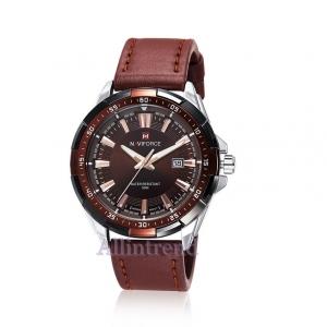 นาฬิกา Naviforce รุ่น NF9056M Black Brown นาฬิกาข้อมือสุภาพบุรุษ ของแท้ รับประกันศูนย์ 1 ปี ส่งพร้อมกล่อง และใบรับประกันศูนย์ ราคาถูกที่สุด