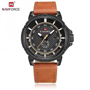 นาฬิกา Naviforce รุ่น NF9083M BK BN นาฬิกาข้อมือสุภาพบุรุษ สีน้ำตาล ของแท้ รับประกันศูนย์ 5 ปี ส่งพร้อมกล่อง และใบรับประกันศูนย์ ราคาถูกที่สุด
