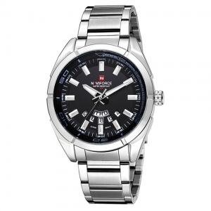 นาฬิกา Naviforce รุ่น NF9038M สีเงิน หน้าดำ ของแท้ รับประกันศูนย์ 1 ปี ส่งพร้อมกล่อง และใบรับประกันศูนย์ ราคาถูกที่สุด