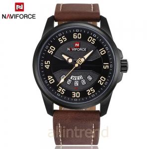 นาฬิกา Naviforce รุ่น NF9124M สีส้ม/น้ำตาล ของแท้ รับประกันศูนย์ 1 ปี ส่งพร้อมกล่อง และใบรับประกันศูนย์ ราคาถูกที่สุด
