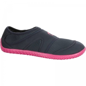 รองเท้าลุยน้ำ รองเท้าดำน้ำ สีดำ พื้นสีชมพู