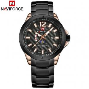 นาฬิกา Naviforce รุ่น NF9084M สีดำ/ทองชมพู/ดำ ของแท้ รับประกันศูนย์ 1 ปี ส่งพร้อมกล่อง และใบรับประกันศูนย์ ราคาถูกที่สุด
