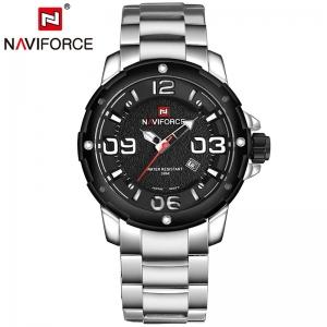 นาฬิกา Naviforce รุ่น NF9078M White Silver นาฬิกาข้อมือสุภาพบุรุษ ของแท้ รับประกันศูนย์ 1 ปี ส่งพร้อมกล่อง และใบรับประกันศูนย์ ราคาถูกที่สุด