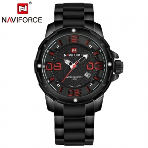 นาฬิกา Naviforce รุ่น NF9078M Red Black นาฬิกาข้อมือสุภาพบุรุษ สีแดง ดำ ของแท้ รับประกันศูนย์ 1 ปี ส่งพร้อมกล่อง และใบรับประกันศูนย์ ราคาถูกที่สุด