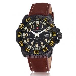 นาฬิกา Naviforce รุ่น NF9041M สีเหลือง ของแท้ รับประกันศูนย์ 1 ปี ส่งพร้อมกล่อง และใบรับประกันศูนย์ ราคาถูกที่สุด