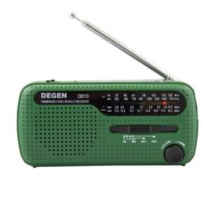 วิทยุ DEGEN DE13 FM AM SW Crank Solar Radio Receiver
