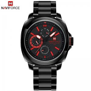 นาฬิกา Naviforce รุ่น NF9069M Red Black นาฬิกาข้อมือสุภาพบุรุษ สีแดง ดำ ของแท้ รับประกันศูนย์ 1 ปี ส่งพร้อมกล่อง และใบรับประกันศูนย์ ราคาถูกที่สุด