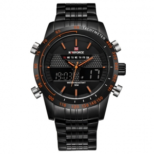 นาฬิกา Naviforce รุ่น NF9024M สีส้ม/ดำ ของแท้ รับประกันศูนย์ 1 ปี ส่งพร้อมกล่อง และใบรับประกันศูนย์ ราคาถูกที่สุด