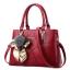พร้อมส่ง กระเป๋าผู้หญิงถือและสะพายข้างแฟชั่นสไตล์ยุโรป เรียบหรู รหัส Yi-8178 สีไวน์แดง *แถมโบว์ผ้าสุ่มสี thumbnail 1