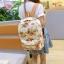 พร้อมส่ง กระเป๋าเป้ผ้า สะพายหลัง ลายดอกไม้ เป้เดินทาง เป้นักเรียนผู้หญิงแฟชั่นเกาหลี Fashion bag รหัส G-175 สีขาว 1 ใบ thumbnail 1