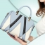 ขายส่งกระเป๋ากระเป๋าถือและสะพายข้าง ตัดเย็บสลับสีแฟชั่นเกาหลี Sunny-913 สีฟ้า thumbnail 1