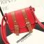 พร้อมส่ง กระเป๋าสะพายข้าง สายรัดคู่เก๋ๆ แฟชั่นเกาหลีน่ารัก Fashion bag รหัส G-379 สีแดง thumbnail 1