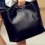 พร้อมส่ง กระเป๋าผู้หญิง ถือและสะพายข้าง แฟชั่นสไตล์ยุโรป Fashion bag รหัส G-825 สีดำ thumbnail 1
