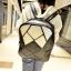 พร้อมส่ง กระเป๋าเป้สะพายหลัง แฟชั่นเกาหลี Fashion bag รหัส NA-228-2 สีดำ-ขาว thumbnail 1