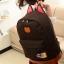 ขายส่ง กระเป๋าเป้ผ้าสะพายหลัง เป้นักเรียน School bag แต่งหูแมว แฟชั่นเกาหลี รหัส G-370 สีน้ำตาล 2 ใบ thumbnail 1
