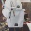 พร้อมส่ง กระเป๋าเป้ผ้า สะพายหลังใบใหญ่ สไตล์Anello-flap ติดโลโก้ LIVING TRAVELING SHARE แฟชั่นเกาหลี Fashion bag รหัส NA-436 สีเทา 1 ใบ thumbnail 1