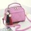 ขายส่ง กระเป๋าถือและสะพายข้าง ผู้หญิง แฟชั่นสไตล์เกาหลี รหัส KO-4556 สีชมพูอ่อน *แถมพู่ห้อย thumbnail 1
