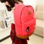 ขายส่ง กระเป๋าเป้ผ้าสะพายหลัง เป้นักเรียน School bag แต่งหูแมว แฟชั่นเกาหลี รหัส G-370 สีแดงแตงโม thumbnail 1