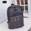 พร้อมส่ง กระเป๋าเป้ผ้าใบใหญ่ สะพายหลัง เป้นักเรียน School bag แฟชั่นเกาหลี รหัส NA-562 สีเทา thumbnail 1