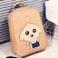พร้อมส่ง กระเป๋าเป้สะพายหลังและสะพายข้าง นักเรียนผู้หญิงแฟชั่นเกาหลี THE DOG รหัส CA-S996 สีกากี thumbnail 1