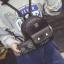 พร้อมส่ง กระเป๋าเป้สะพายหลังใบเล็ก เช็ต 2 ใบ แต่งหน้าแมวน่ารัก ผู้หญิงแฟชั่นเกาหลี Fashion รหัส G-167 สีดำ 1 ใบ thumbnail 1