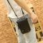 พร้อมส่ง กระเป๋าผู้ชายแฟขั่นเกาหลี ใบเล็ก ใส่โทรศัพท์ iphone รหัส Man-734 สีดำ thumbnail 1