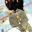 พร้อมส่ง ขายส่ง กระเป๋าสะพายข้าง ทรงขนมจีบ แฟชั่นเกาหลี Fashion bag รหัส T-302 สีดำ-ขาว 2 ใบ thumbnail 1