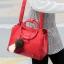 ขายส่ง กระเป๋าผู้หญิงถือหูหิ้วห่วงกลมวินเทจ สะพายข้างได้ แฟชั่นสไตล์เกาหลี รหัส KO-981 สีเแดง *แถมปอมๆ thumbnail 1