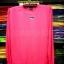 เสื้อยืดผ้าTC แขนยาว จั้มแขน สีชมพูสะท้อนแสง thumbnail 1