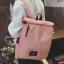พร้อมส่ง กระเป๋าเป้ผ้า สะพายหลังใบใหญ่ สไตล์Anello-flap ติดโลโก้ LIVING TRAVELING SHARE แฟชั่นเกาหลี Fashion bag รหัส NA-436 สีชมพูอ่อน thumbnail 1
