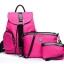พร้อมส่ง กระเป๋าผู้หญิง เป้ผ้าสะพายหลัง เช็ต 3 ใบ แฟชั่นเกาหลี Fashion bag รหัส NA-548 สีบานเย็น thumbnail 1