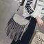 พร้อมส่ง กระเป๋าผู้หญิงสะพายข้าง แต่งพู่พริ้ว แฟชั่นเกาหลี Fashion bag รหัส G-497 สีเทา thumbnail 1