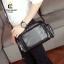 พร้อมส่ง กระเป๋าผู้ชายสะพายไหล่ แฟชั่นเกาหลี รหัส Man-6040 สีดำ thumbnail 1