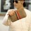 พร้อมส่ง กระเป๋าผู้ชาย คลัทซ์ผ้าใบพร้อมสายคล้องมือ แฟชั่นเกาหลี รหัส Man-827 สีน้ำตาล