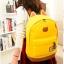 ขายส่ง กระเป๋าเป้ผ้าสะพายหลัง เป้นักเรียน School bag แต่งหูแมว แฟชั่นเกาหลี รหัส G-370 สีเหลือง thumbnail 1