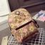 พร้อมส่ง กระเป๋าราคาส่ง เป้สะพายหลัง ใบเล็ก ลายนาฬิกาดอกไม้ เป้ชอบปิ้งแฟชั่นเกาหลี รหัส G-668 สีชมพู thumbnail 1