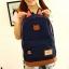 ขายส่ง กระเป๋าเป้ผ้าสะพายหลัง เป้นักเรียน School bag แต่งหูแมว แฟชั่นเกาหลี รหัส G-370 สีน้ำเงินเข้ม thumbnail 1