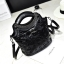 พร้อมส่ง ขายส่งกระเป๋าผู้หญิงถือและสะพายข้าง แต่งหมุดแต่งโลโก้ OO แฟชั่นเกาหลี Fashion bag รหัส DU-314 สีดำ thumbnail 1