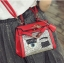 พร้อมส่ง ขายส่ง กระเป๋าถือและสะพายข้างผู้หญิงใบเล็ก ขนตา ประดับเลื่อมแฟชั่นเกาหลี รหัส D-388 สีแดง thumbnail 1