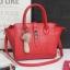 พร้อมส่ง กระเป๋าผู้หญิง ถือและสะพายข้างแฟชั่นเกาหลี รหัส KO-082 สีแดง**พู่จิ้งจอกสุ่มแบบ thumbnail 1