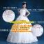 ชุดแต่งงานคนอ้วน กระโปรงสุ่มลายดอกไม้ WL-2017-P008 Pre-Order (เกรด Premium) thumbnail 1