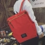 พร้อมส่ง กระเป๋าเป้ผ้า สะพายหลังใบใหญ่ สไตล์Anello-flap ติดโลโก้ LIVING TRAVELING SHARE แฟชั่นเกาหลี Fashion bag รหัส NA-436 สีแดง thumbnail 1