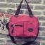 ขายส่งกระเป๋าผ้า ใบใหญ่ ถือและสะพายข้าง สะพายไหล่ ผู้หญิงแฟชั่นเกาหลี Fashion รหัส NA-756 สีแดง thumbnail 1